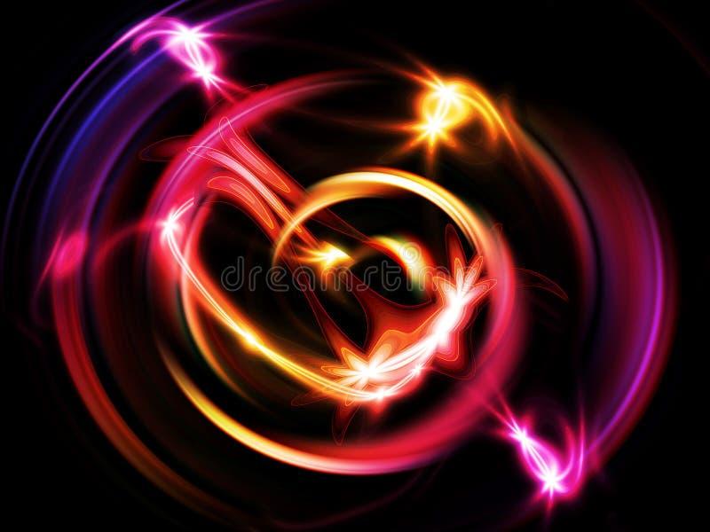 Glühende Turbulenz vektor abbildung