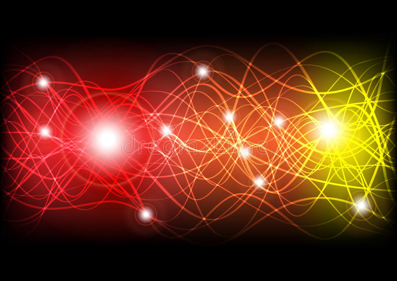 Glühende Wellen vektor abbildung