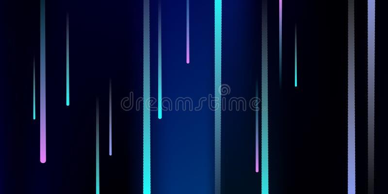 Glühende Zeilen Fallender greller Glanz Digital stock abbildung