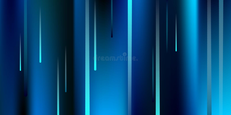 Glühende Zeilen Fallender greller Glanz Digital vektor abbildung