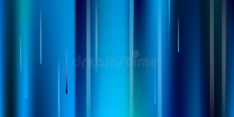 Glühende Zeilen Fallender greller Glanz Digital lizenzfreie abbildung
