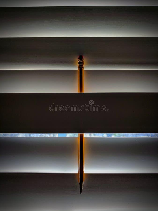Glühender Bleistift stockfotografie