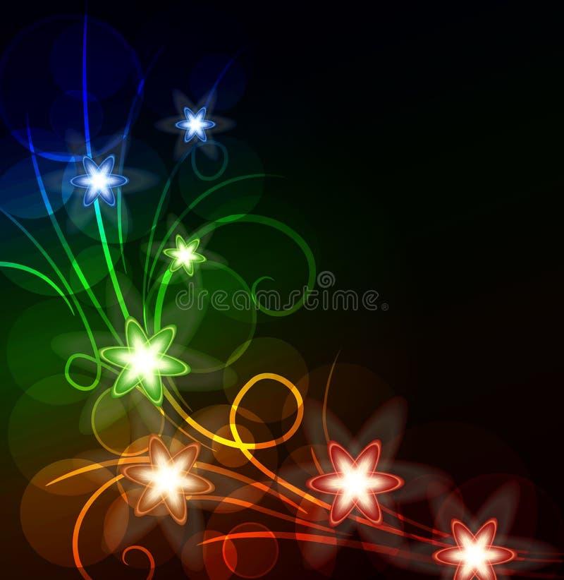 Glühender Blumenhintergrund vektor abbildung