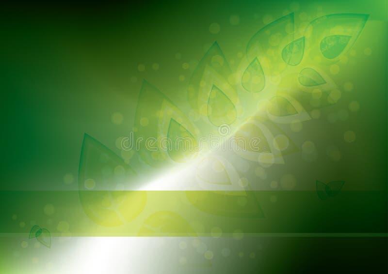 Glühender eco Hintergrund lizenzfreie abbildung
