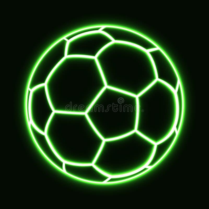 glühender Fußball vektor abbildung