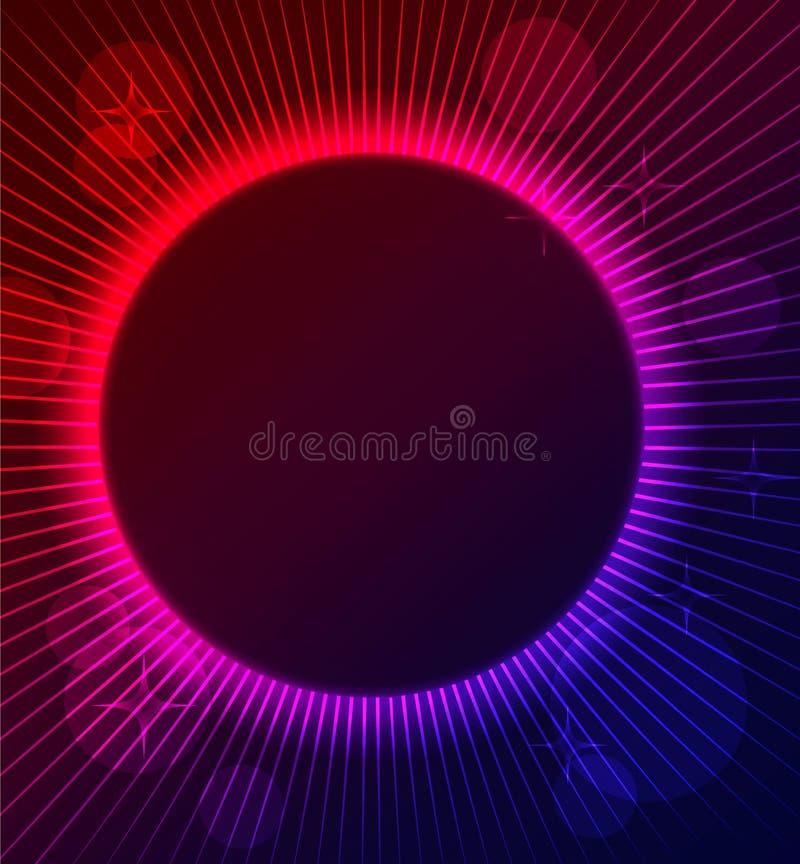 Glühender Hintergrund der abstrakten Farbe stock abbildung