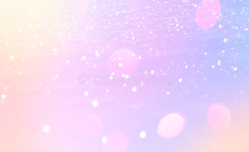 Glühender Hintergrund der Magie mit Regenbogenmasche Fantasieeinhorn gra stockfotografie