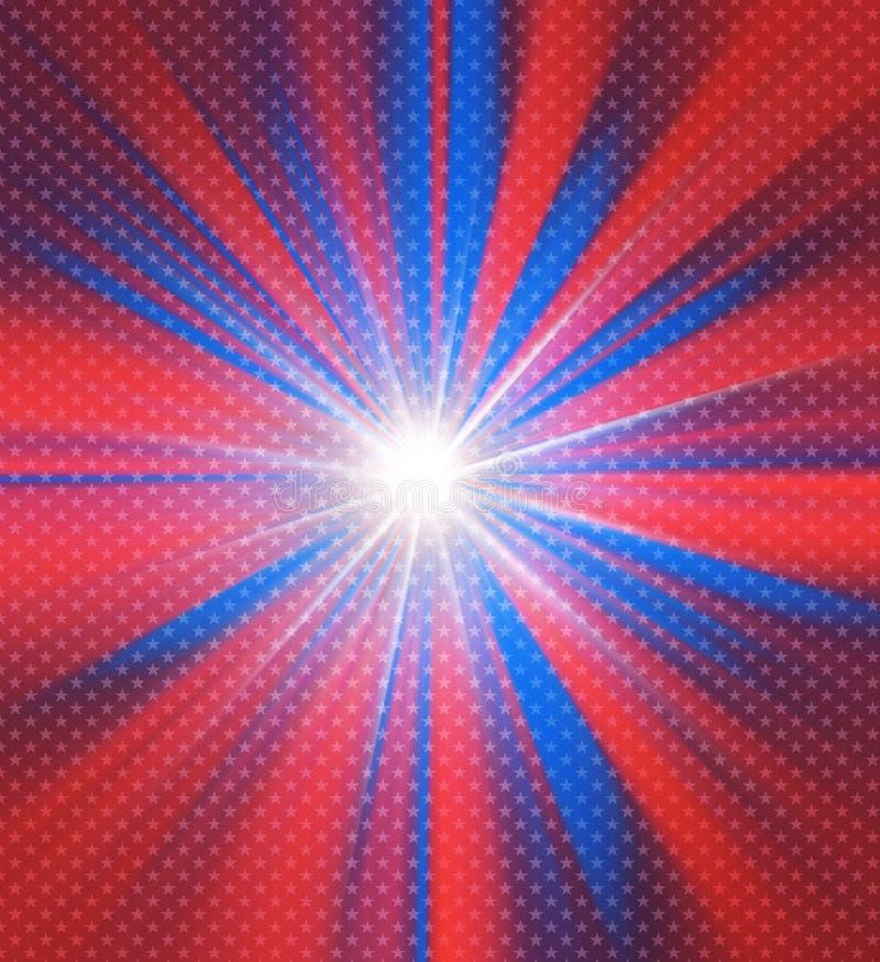 Glühender Hintergrund der roten und blauen Farben lizenzfreie abbildung
