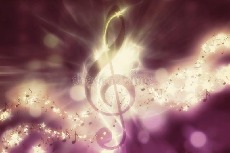 Glühender Musikhintergrund stock abbildung