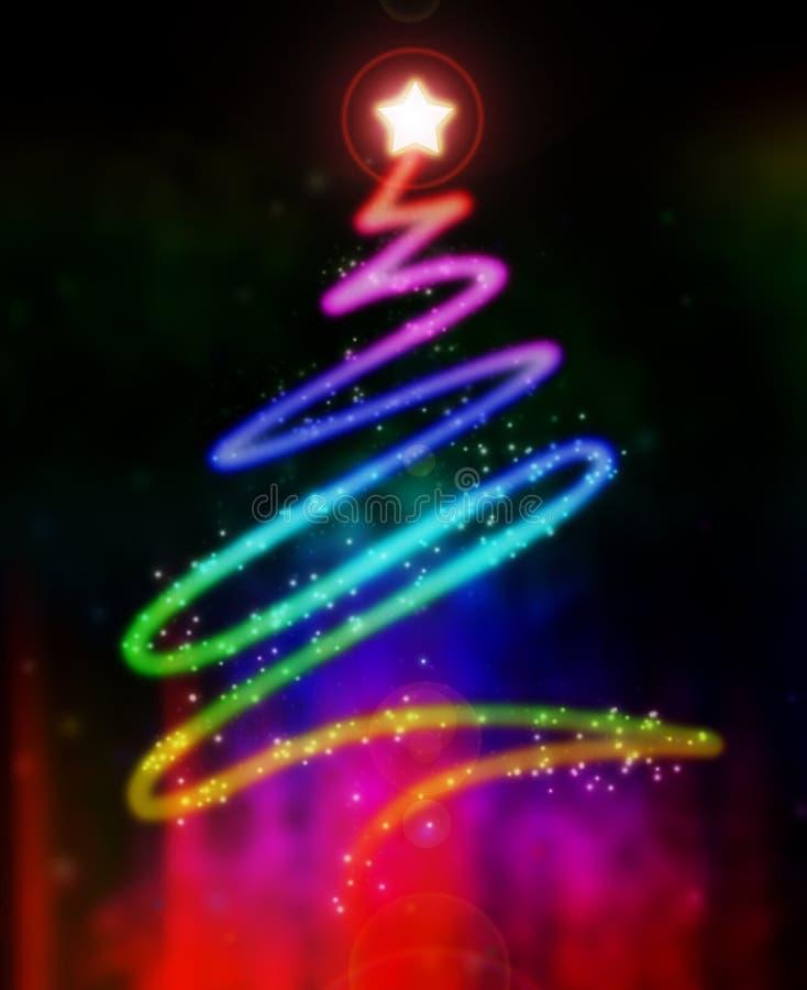 Glühender Weihnachtsbaum vektor abbildung
