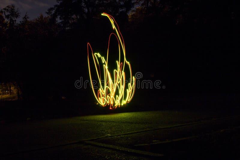 Glühendes Feuer stockfotografie