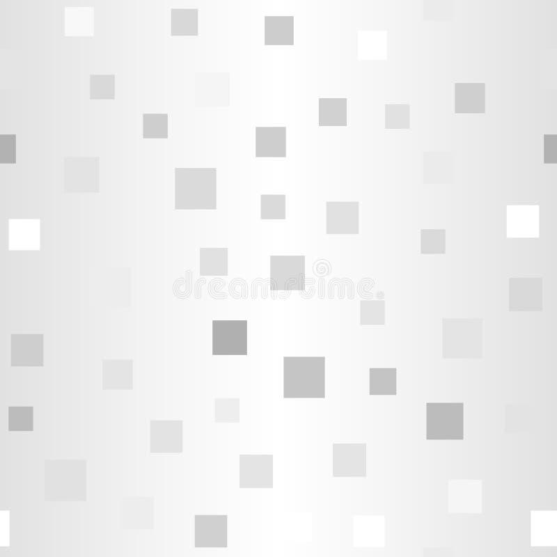 Glühendes gelegentliches quadratisches Muster Nahtloser vektorhintergrund stock abbildung