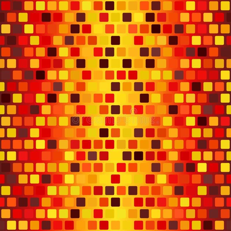 Glühendes gerundetes quadratisches Muster Nahtloser vektorhintergrund vektor abbildung
