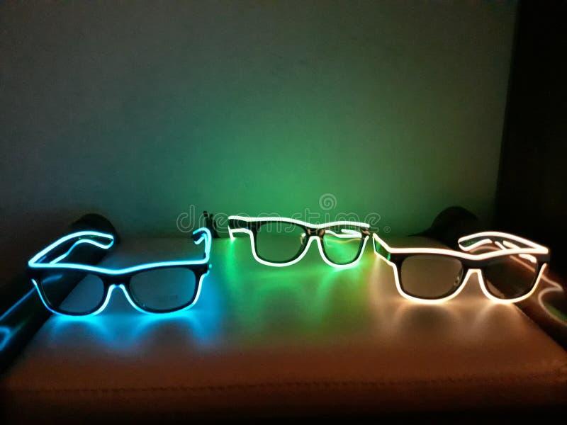 Glühendes Glasneonlicht stockbilder