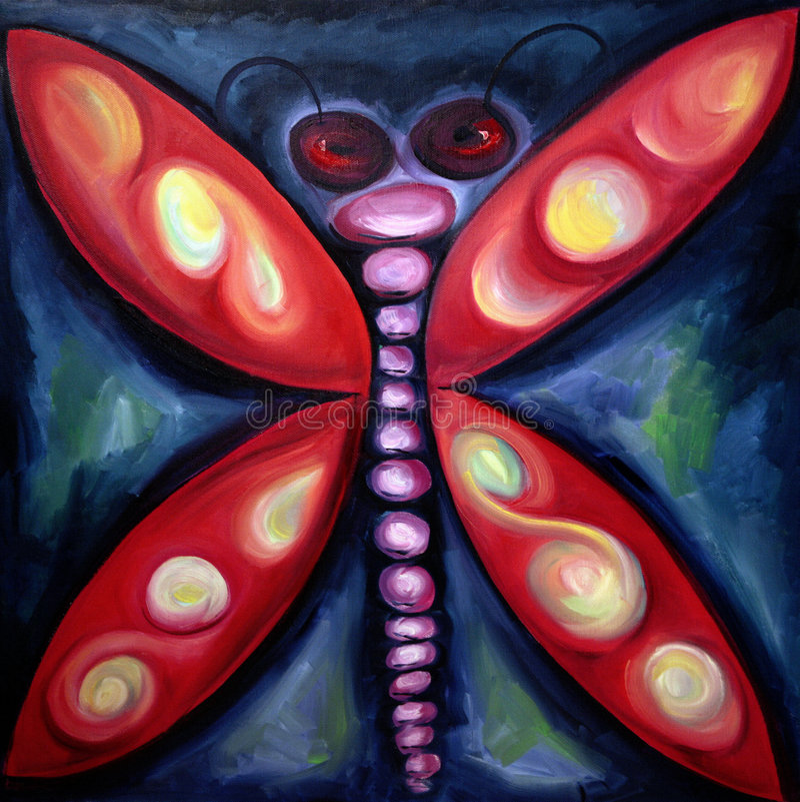 Glühendes Insekt stock abbildung