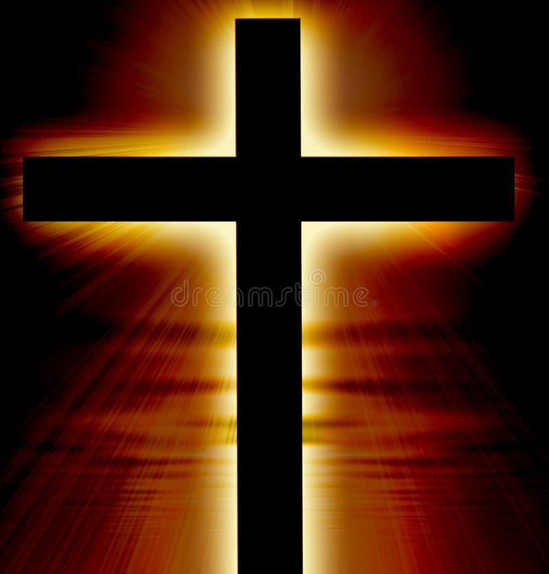 Glühendes Kreuz lizenzfreie abbildung