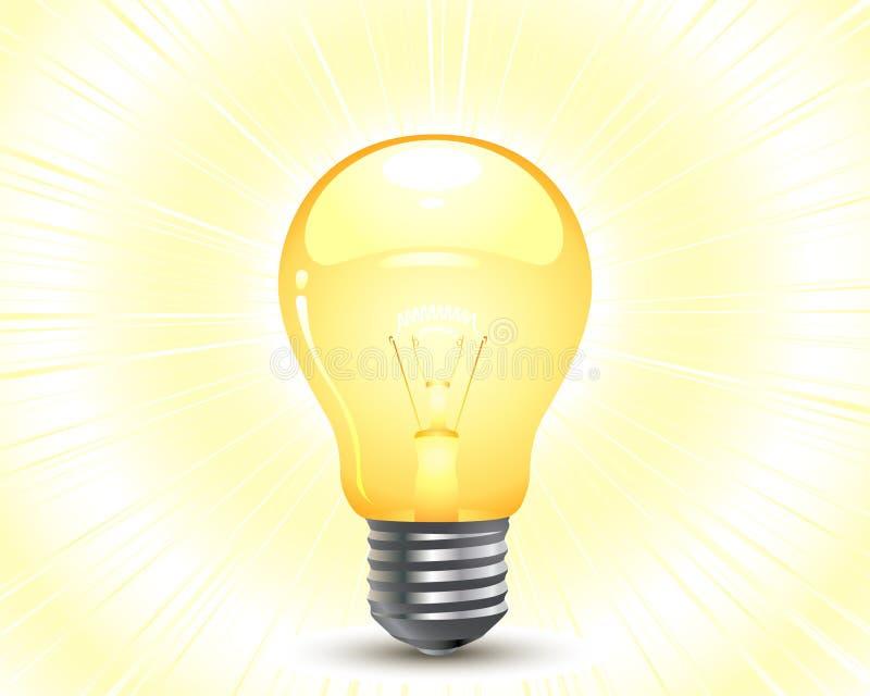 Glühlampe lizenzfreie abbildung