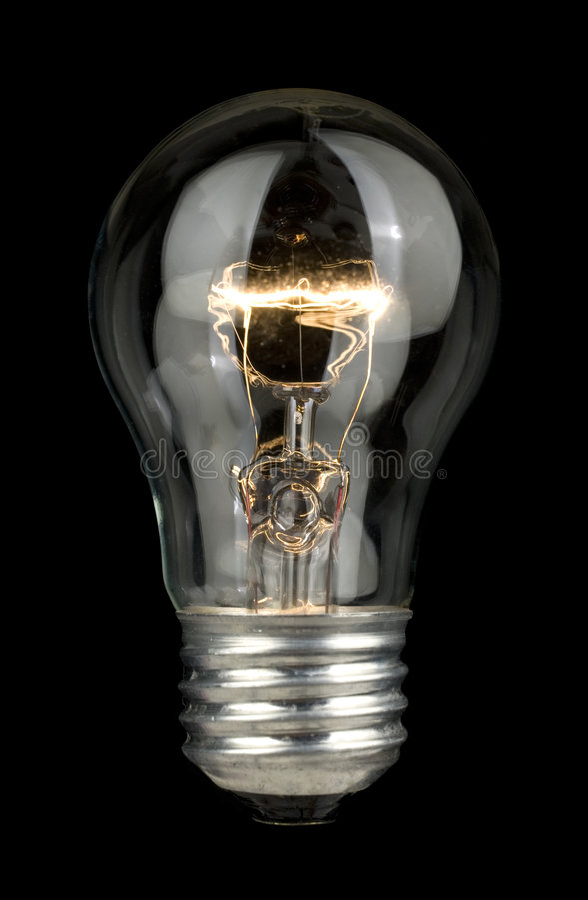 Glühlampe. stockfoto