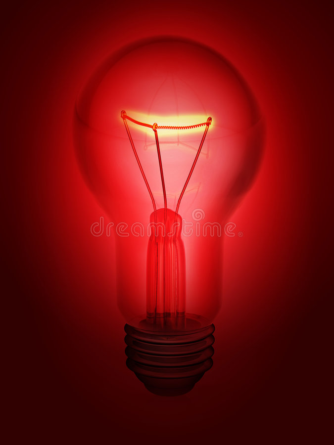 Glühlampe 3d stock abbildung