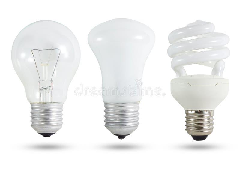 Glühlampe drei lizenzfreie stockfotografie