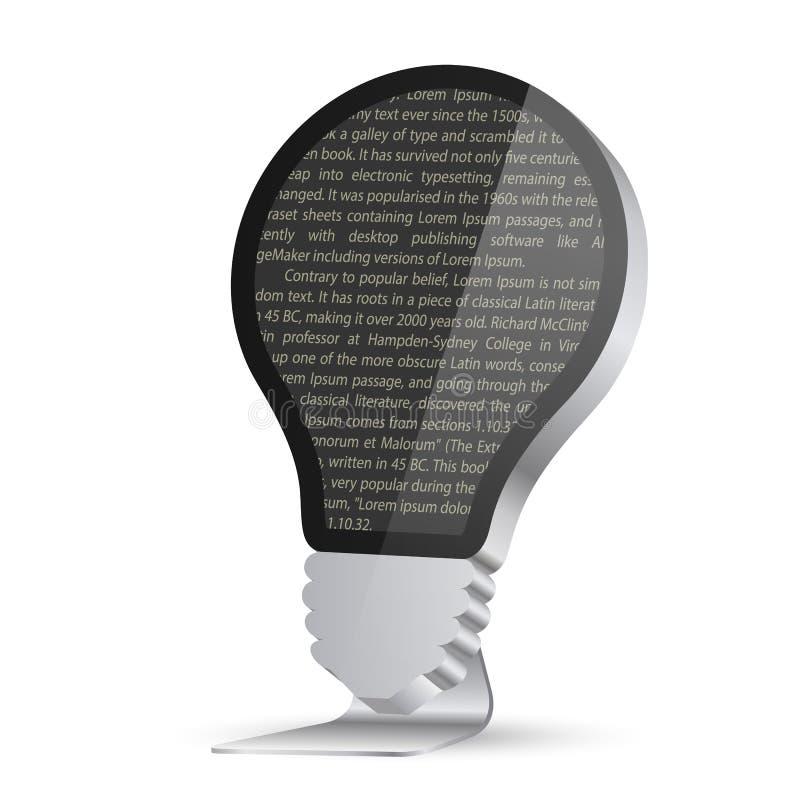Glühlampe in Form eines Monitors stock abbildung