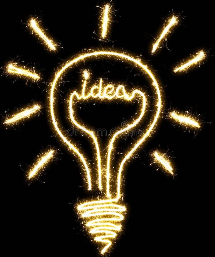 Glühlampe, Idee gemacht durch Wunderkerze vektor abbildung