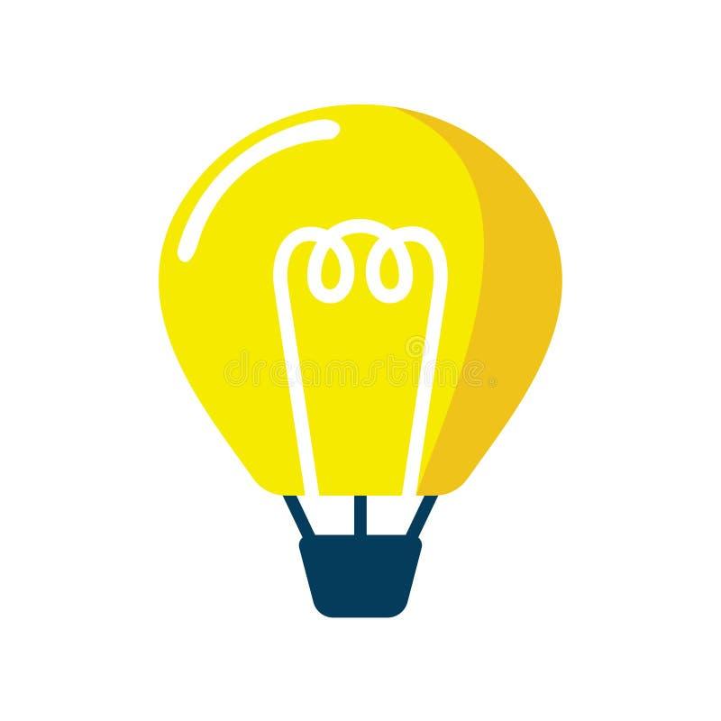 Glühlampe-Lampen-Fliegen-Ballon-Smart-Ideen-Ikone lizenzfreie abbildung