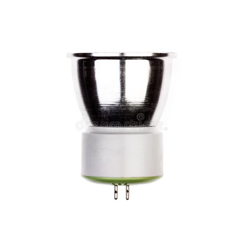 Glühlampe LED mit GU5 Sockel 3 lokalisiert auf Weiß stockfoto