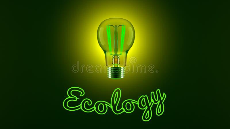 Glühlampe und Ökologie lizenzfreie abbildung