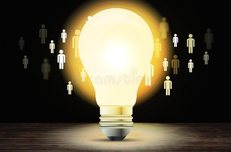 Glühlampe und Illustration vektor abbildung