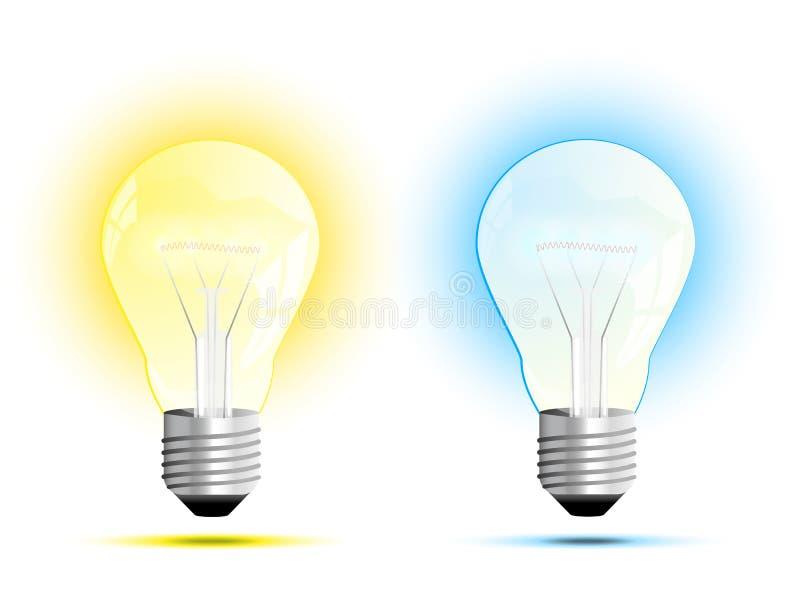 Glühlampe, Vektorillustration stock abbildung