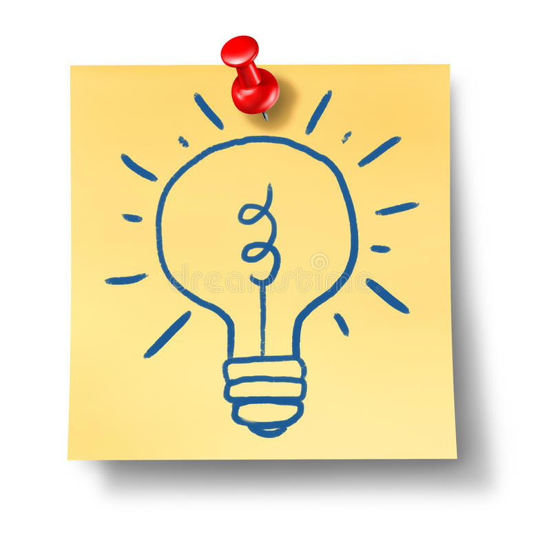 Glühlampebüro der Ideeninspirationkreativität nicht lizenzfreie abbildung