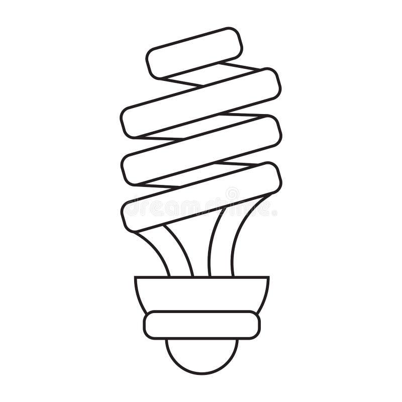Glühlampebilddagramm der Energiesparlampe vektor abbildung