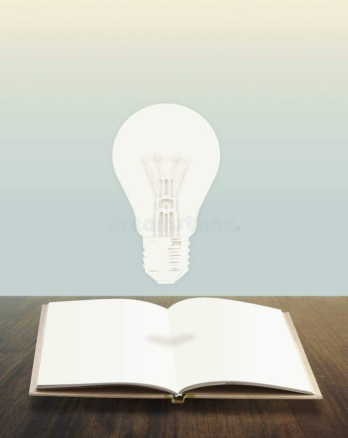 Glühlampebuch begrifflich stockbild