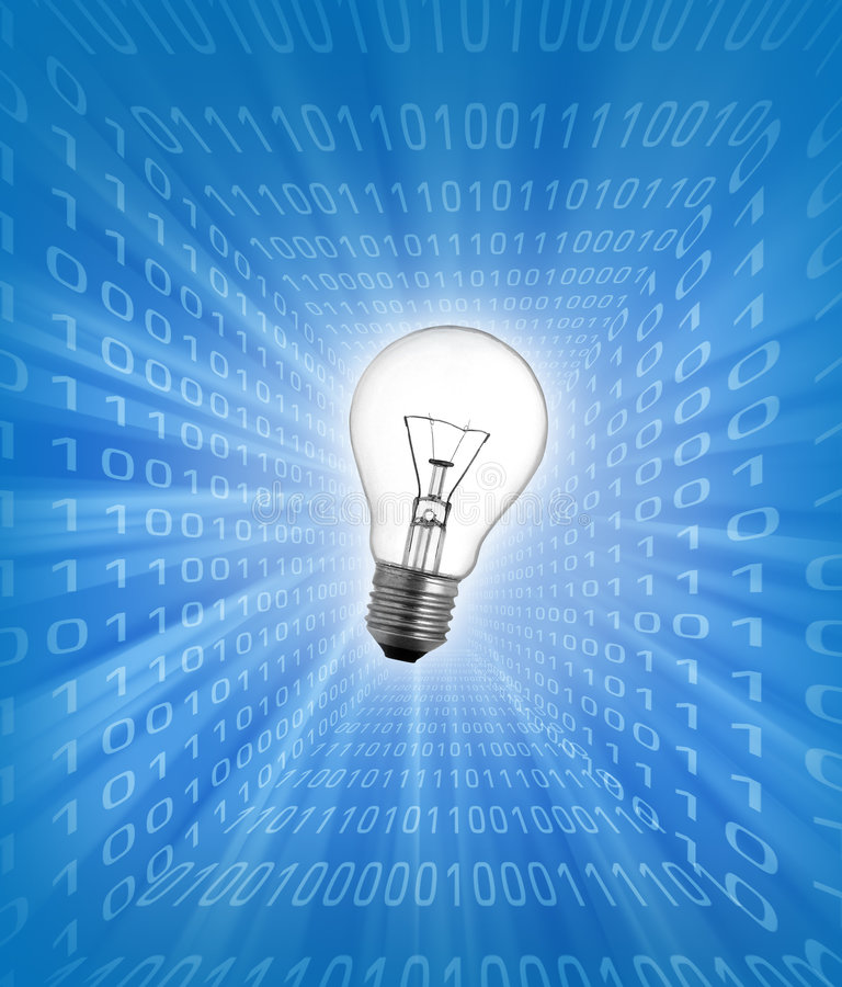 Glühlampekonzept auf Geschäftshintergrund vektor abbildung