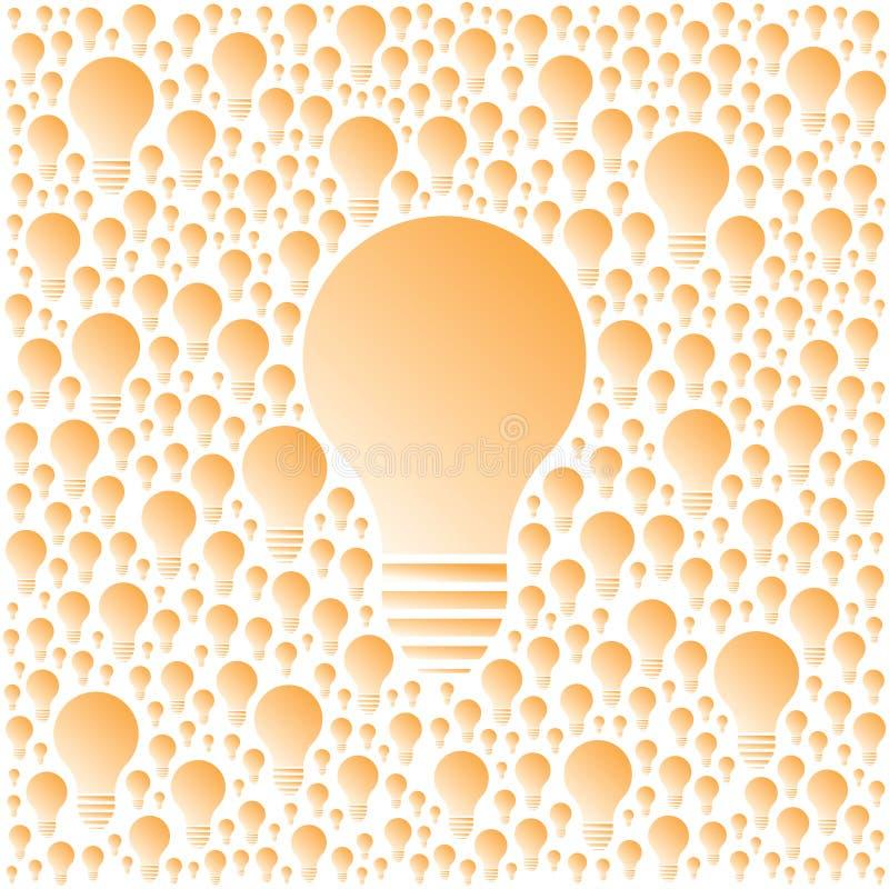 Glühlampekreativität des Vektors und Zusammenarbeitskonzept lizenzfreie abbildung