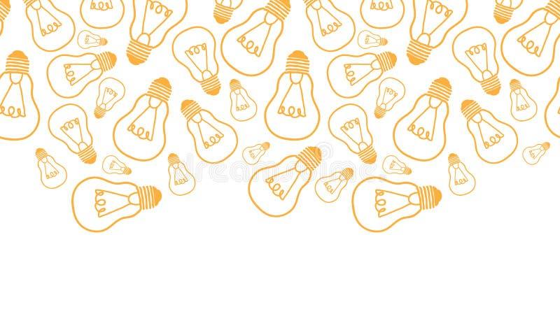 Glühlampelinie horizontales nahtloses Muster der Kunst lizenzfreie abbildung