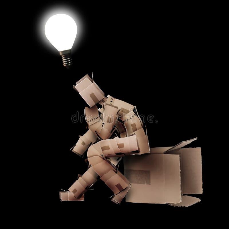 Glühlampemomentkonzept lizenzfreies stockfoto