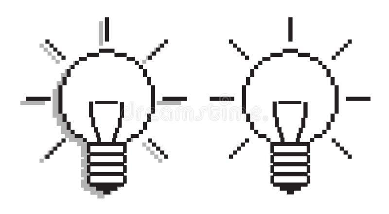 Glühlampen vektor abbildung