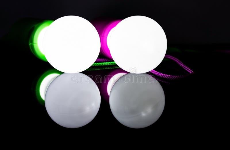 Glühlampen farbe reflexion Energie 3 lizenzfreies stockfoto