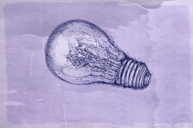 Glühlampen mit antiker Basis stock abbildung