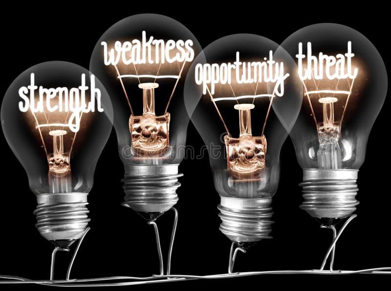 Glühlampen mit Konzept der SCHWEREN ARBEIT stockfoto