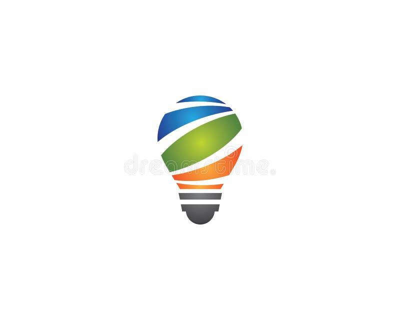 Glühlampenlogoschablonen-Vektorikone lizenzfreie abbildung