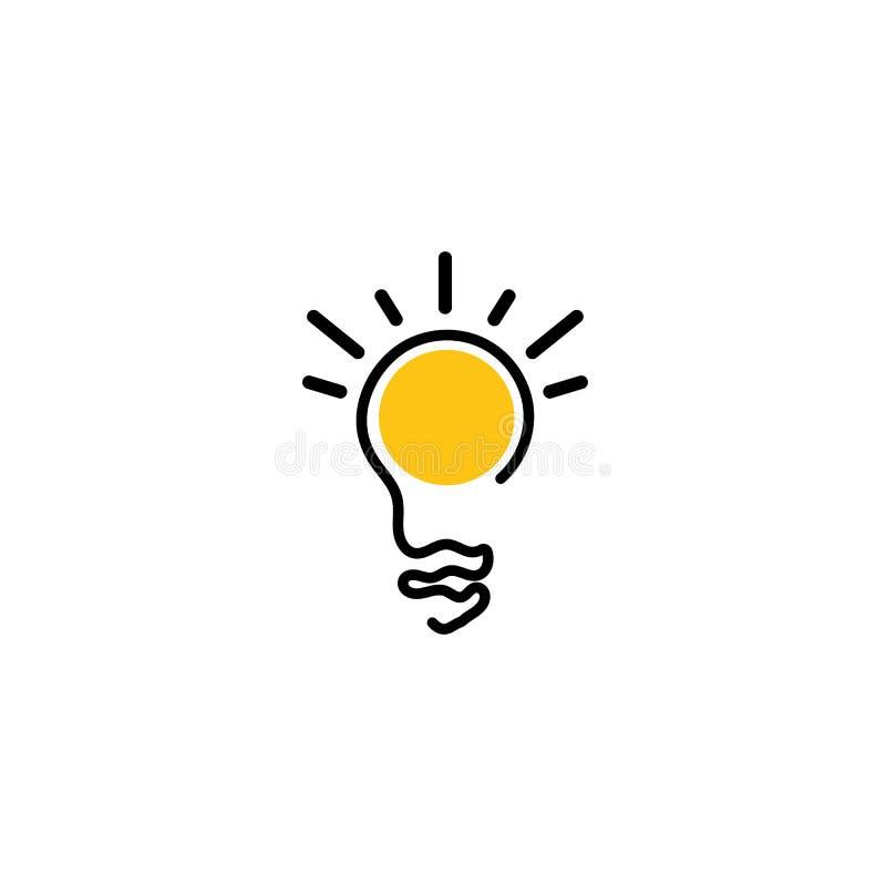 Glühlampesymbolvektor-Entwurfsillustrationen vektor abbildung