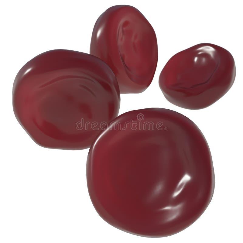 Gl?bulos vermelhos Isolado no branco ilustração do vetor