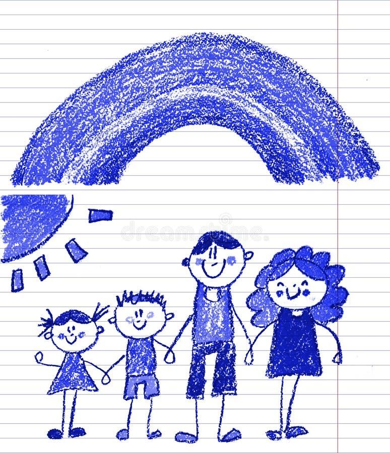 Gl?ckliche Familie mit kleinen Kindern Mutter und Vater mit Kindern Bruder und Schwester mit Eltern Meine Familie mit Haus und Re lizenzfreie stockfotos