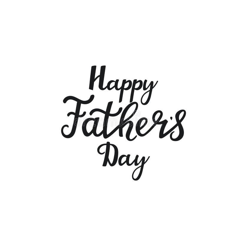 Gl?ckliche Vatertags-Hand gezeichnete Beschriftung Verwendet für Grußkarte, Plakatentwurf, T-Shirt Drucken vektor abbildung