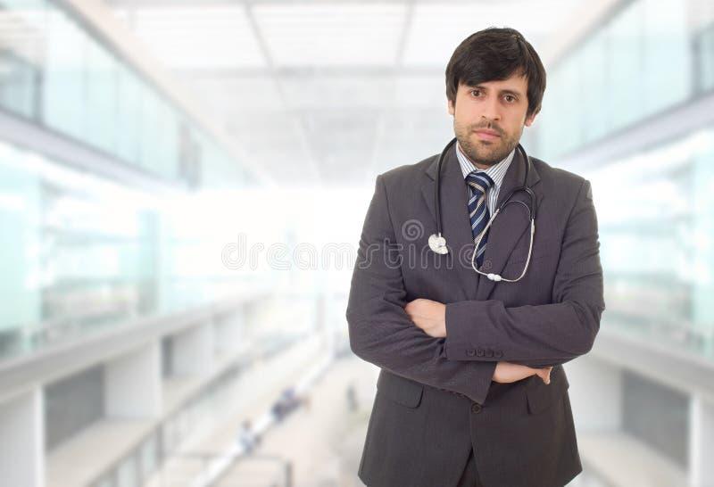 Gl?cklicher Doktor lizenzfreie stockfotos