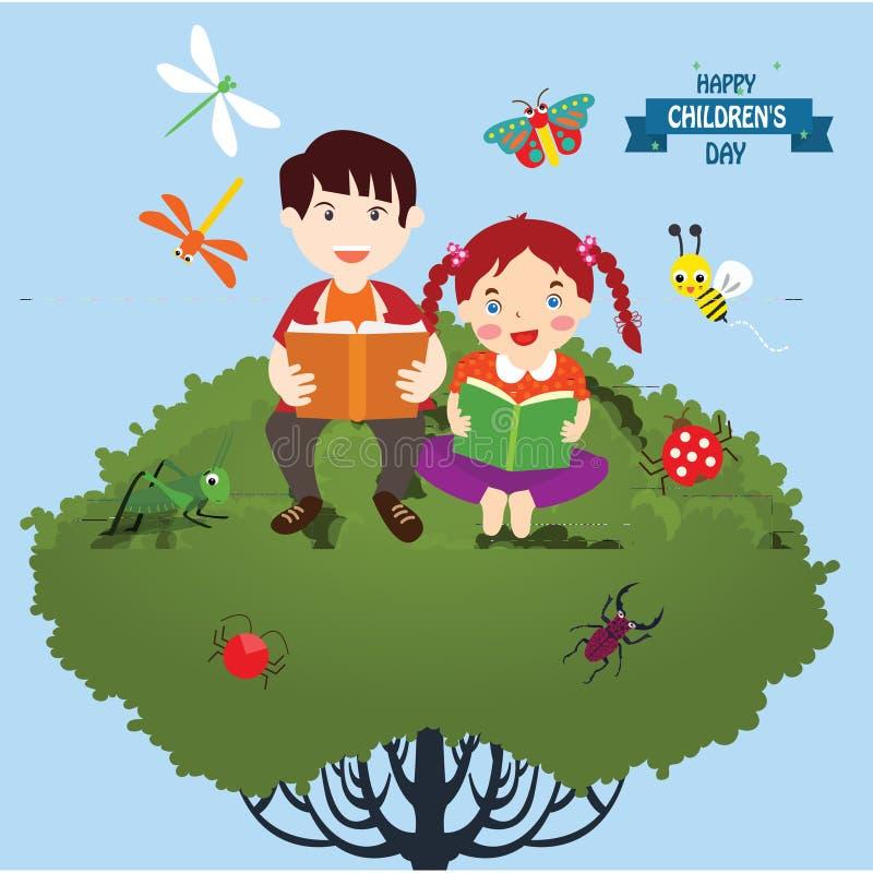 Gl?cklicher Kindertageshintergrund Vektorillustration des Universalkindertagesplakats gl?ckliches neues Jahr 2007 flach Rundes Fe vektor abbildung