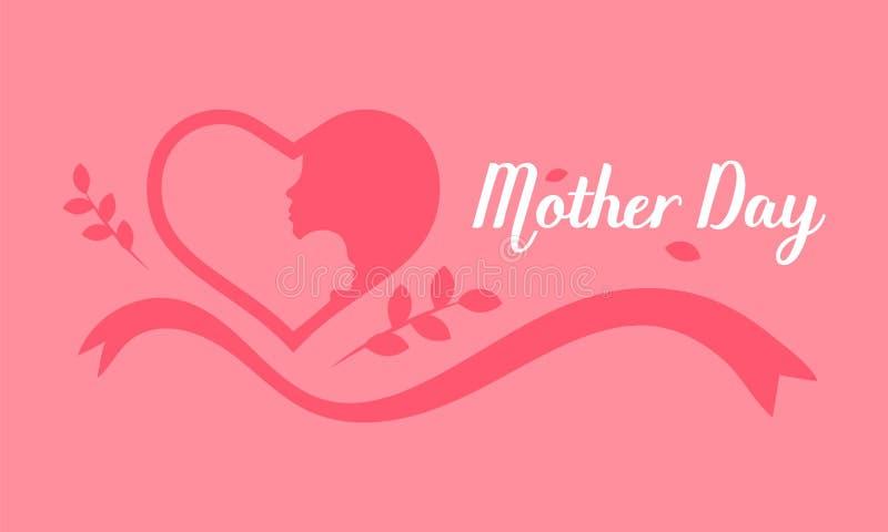 Gl?cklicher Mutter`s Tag Dame halten Kind auf ihrer Schulter im Herzbereich Vektorabbildung EPS10 vektor abbildung